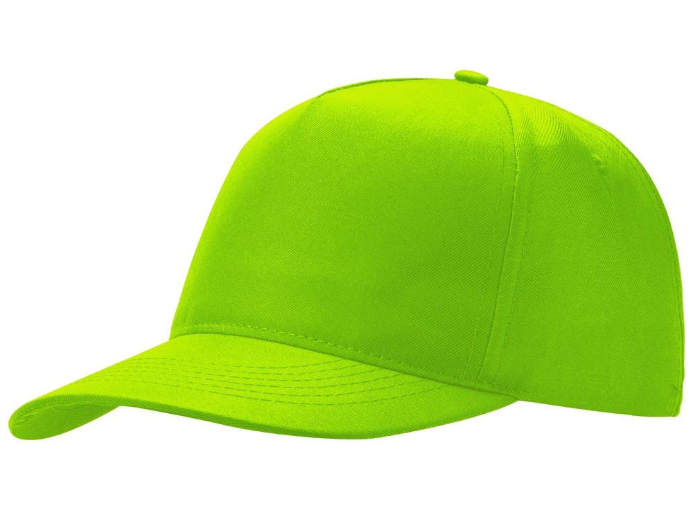 Бейсболка Poly 5-ти панельная, зеленое яблоко (артикул 13385305)