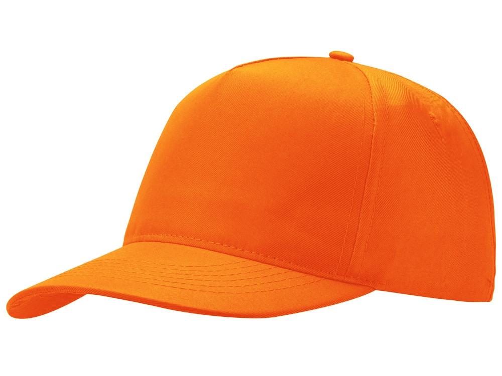 Бейсболка Poly 5-ти панельная, оранжевый (артикул 13385307)
