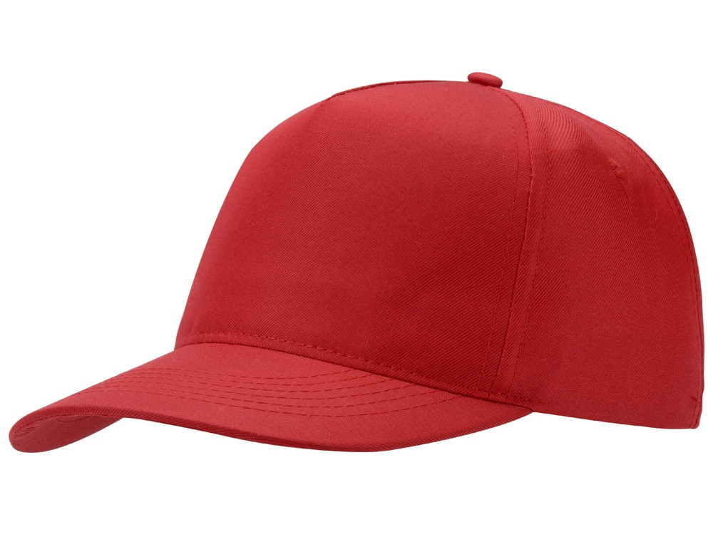 Бейсболка Mix 5-ти панельная, красный (артикул 13385311)