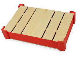 Подарочная деревянная коробка, красный (артикул 625040)