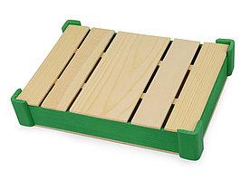 Подарочная деревянная коробка, зеленый (артикул 625041)