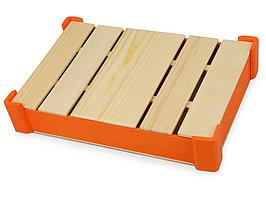 Подарочная деревянная коробка, оранжевый (артикул 625042)