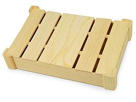 Подарочная деревянная коробка, натуральный (артикул 625044)