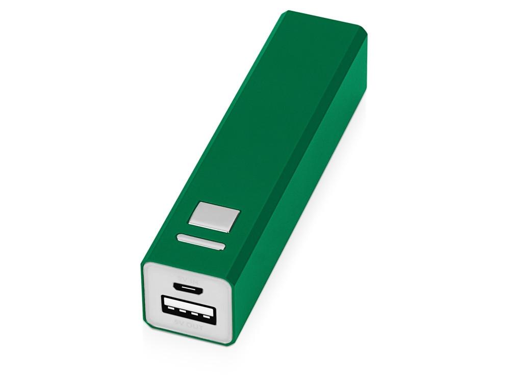 Портативное зарядное устройство Спейс, 3000 mAh, зеленый (артикул 392533)