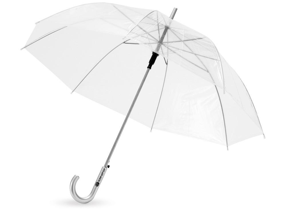 Зонт-трость Клауд полуавтоматический 23, прозрачный (артикул 907508)