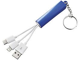 Зарядный кабель 3 в 1, ярко-синий (артикул 13428402)