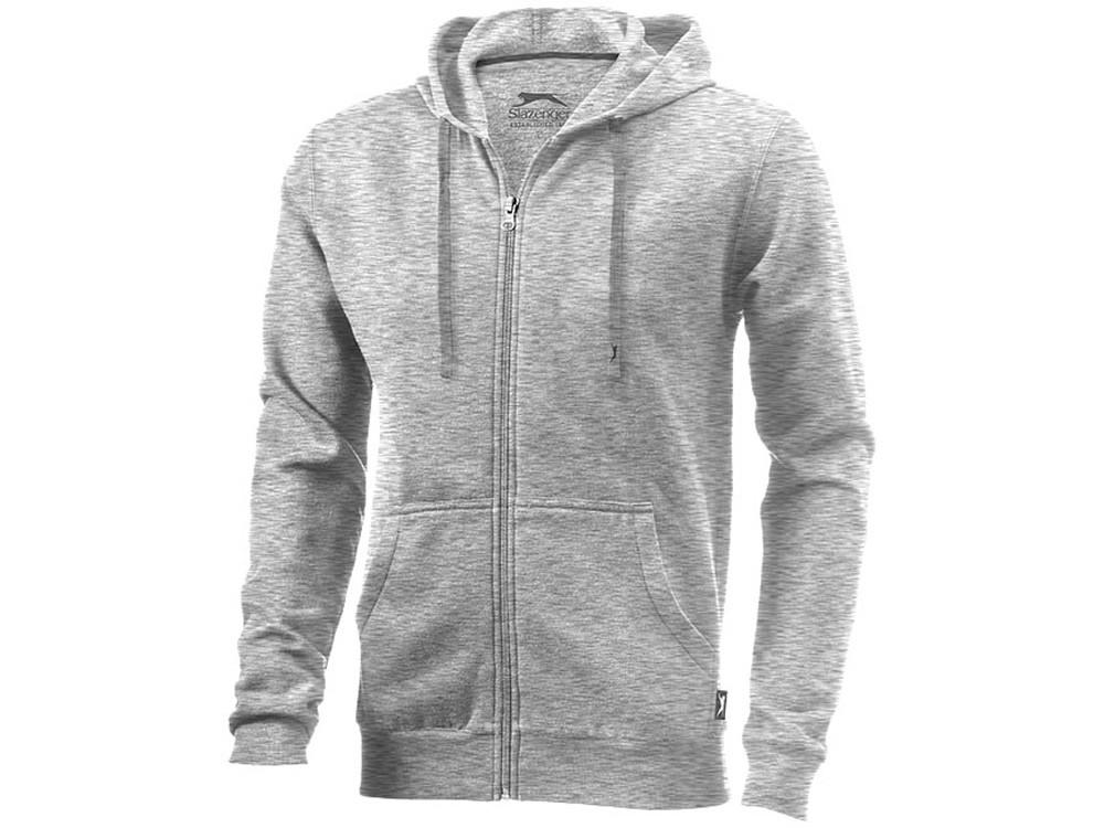 Толстовка Open мужская с капюшоном, серый меланж (артикул 33240953XL)