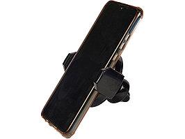 Автомобильный держатель с функцией беспроводной зарядки Stir, черный (артикул 12393900)