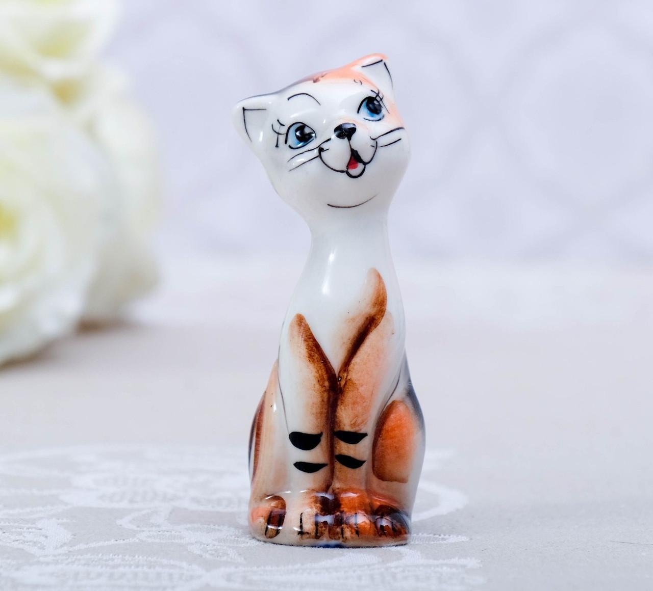 Сувенир Фарфоровая Кошка Милашка, 8 см.