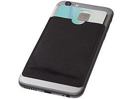 Бумажник для карт с RFID-чипом для смартфона, черный (артикул 13424600)
