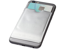 Бумажник для карт с RFID-чипом для смартфона, серебристый (артикул 13424601)