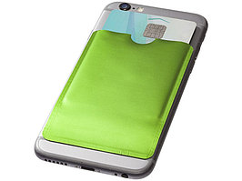 Бумажник для карт с RFID-чипом для смартфона, лайм (артикул 13424604)