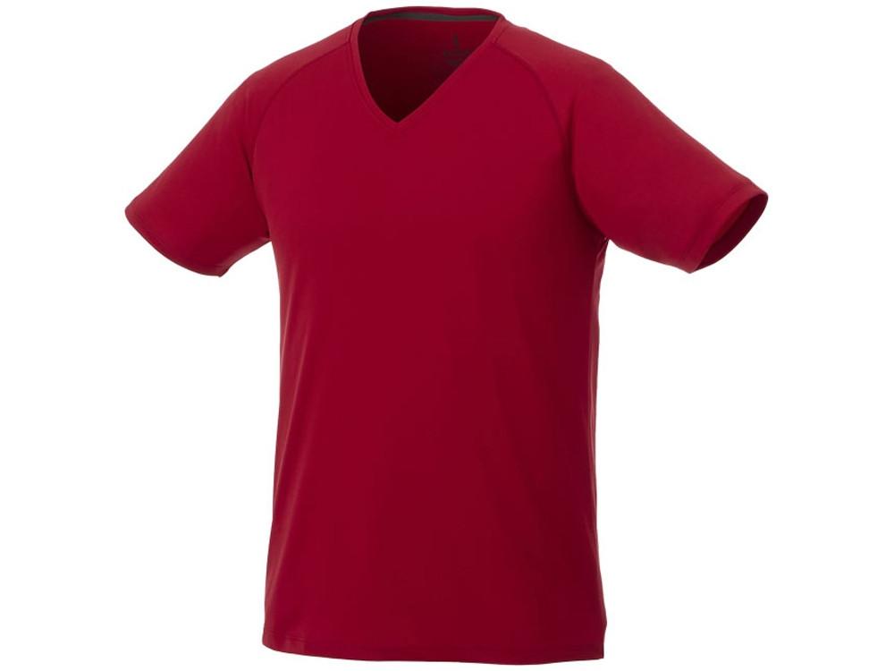 Модная мужская футболка Amery с коротким рукавом и V-образным вырезом, красный (артикул 3902525XL)
