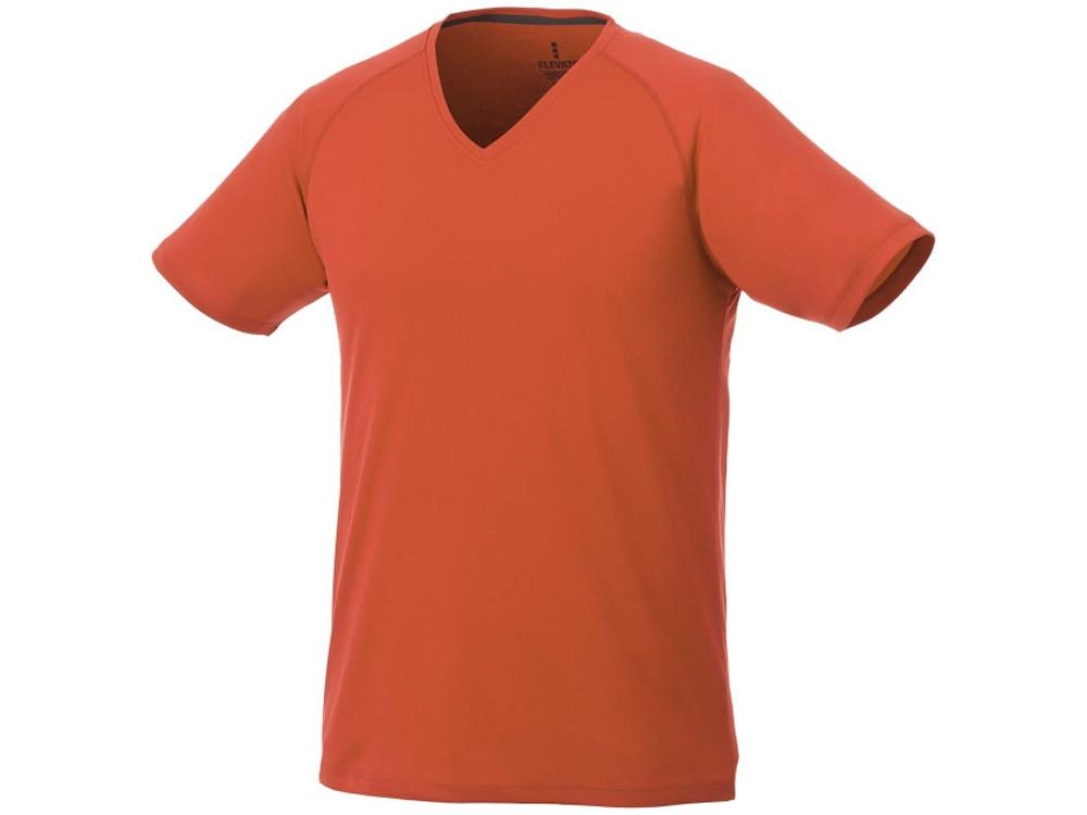 Модная мужская футболка Amery с коротким рукавом и V-образным вырезом, оранжевый (артикул 3902533XS)