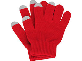 Перчатки для сенсорного экрана, красный, размер S/M (артикул 869511)