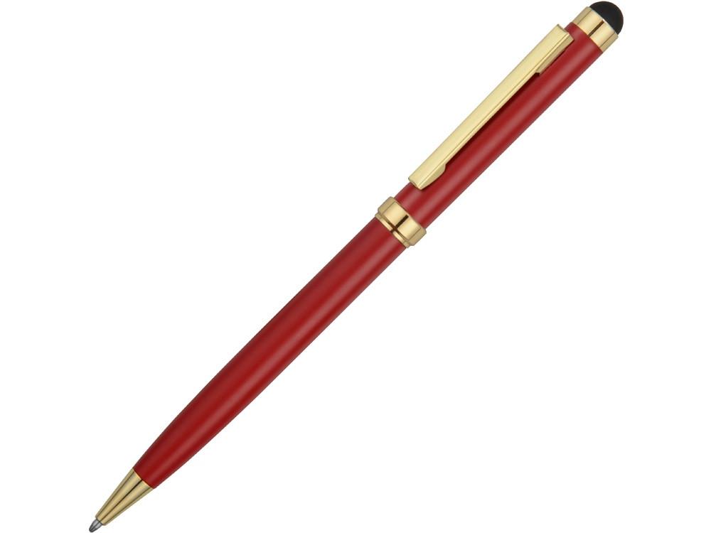 Ручка шариковая Голд Сойер со стилусом, красный (артикул 41091.01)