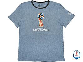 Футболка 2018 FIFA World Cup Russia™ мужская, голубой/черный (артикул 2018851XL)