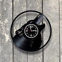 Настенные часы из пластинки, Волк, подарок фанатам, любителям волков, 0534