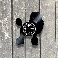 Настенные часы из пластинки, Пудель, подарок владельцам, любителям, собачнику, 0536