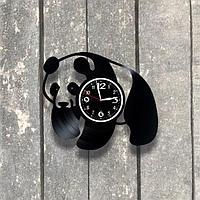 Настенные часы из пластинки, Панда, подарок любителям, 0537