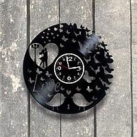 Настенные часы из пластинки Сердце, подарок любимой, любимому, влюбленным, 0545