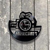 Настенные часы из пластинки Minecraft, подарок фанатам, любителям, 0547