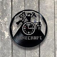 Настенные часы из пластинки Minecraft, подарок фанатам, любителям, 0548