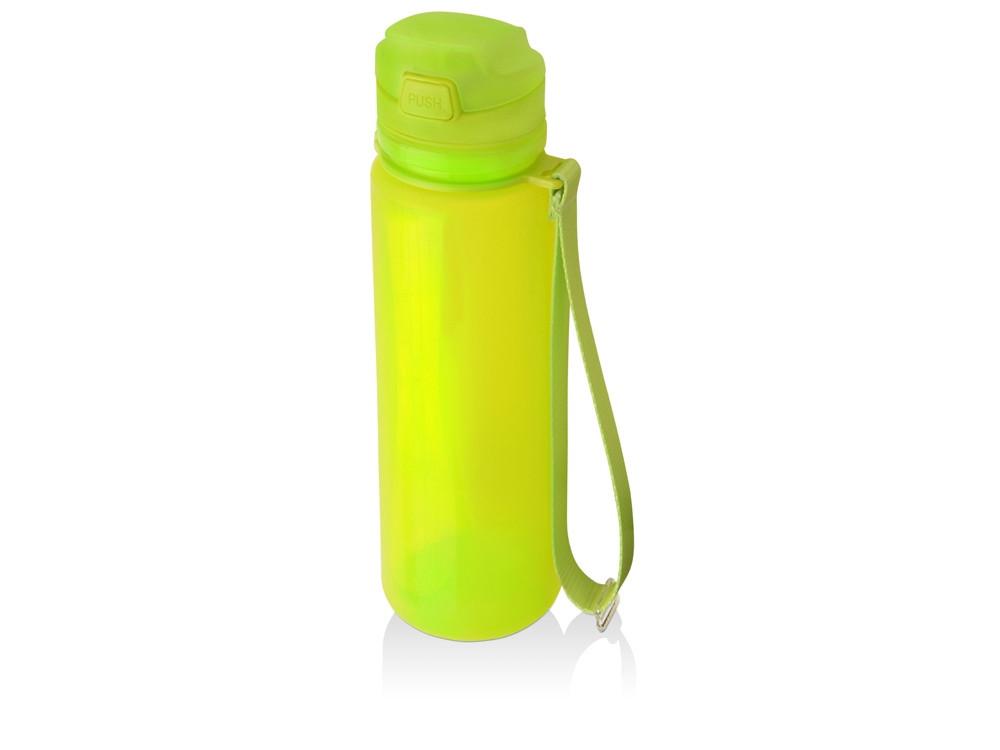 Складная бутылка Твист 500мл, зеленое яблоко (артикул 840003)