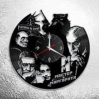 Настенные часы из пластинки фильм Мастер и Маргарита, подарок фанатам, любителям, 0898