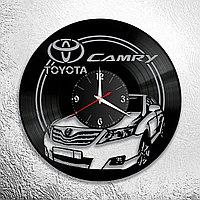 Настенные часы из пластинки Toyota Camry Тойота камри, подарок фанатам, любителям, владельцам, 0918