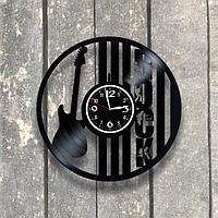 Настенные часы из пластинки Rock Рок, подарок рокерам, фанатам, любителям, 0550