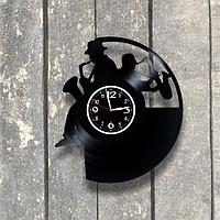 Настенные часы из пластинки Саксофон, подарок саксофонистам, музыкантам, 0551