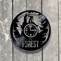 Настенные часы из пластинки игра the forest, подарок фанатам, любителям, 0552