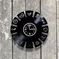 Настенные часы из пластинки, подарок блогеру, рекламщику, маркетологу, таргетологу, 0553