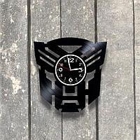 Настенные часы из пластинки, Трансформеры, подарок фанатам, любителям, 0556