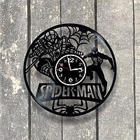 Настенные часы из пластинки, Spiderman Человек-паук, подарок фанатам, любителям, 0557
