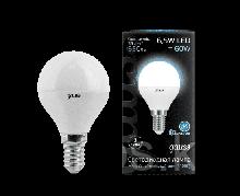 Лампа Gauss Шар 6.5W 550lm 4100K E14 LED 1/10/100