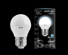Лампа Gauss Шар 6.5W 550lm 4100K E27 LED 1/10/100