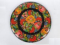 Декоративная тарелка настенная Петриковская роспись, декор для кухни, дома, интерьера, спальни, 26 см, 003