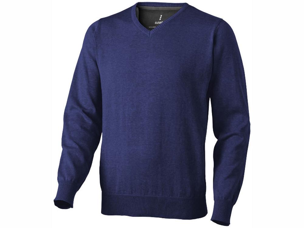 Пуловер Spruce мужской с V-образным вырезом, темно-синий (артикул 38217493XL)
