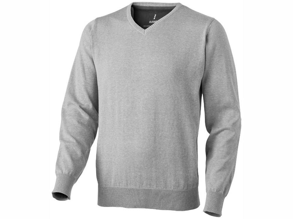 Пуловер Spruce мужской с V-образным вырезом, серый меланж (артикул 3821796S)