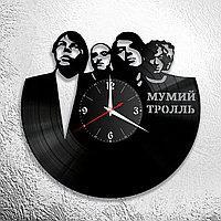 Настенные часы из пластинки, группа Мумий Тролль Илья Лагутенко, подарок фанатам, любителям, 0615