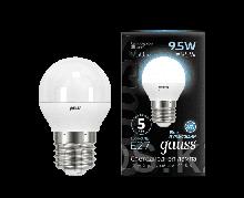 Лампа Gauss Шар 9.5W 950lm 4100K E27 LED 1/10/100