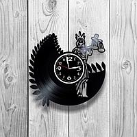 Настенные часы из пластинки Фемида, подарок юристу, адвокату, прокурору, судье, 1205