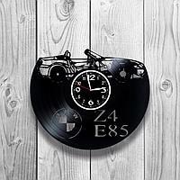 Настенные часы из пластинки, BMW БМВ z4 e85, подарок фантам, любителям, владельцам, 1238