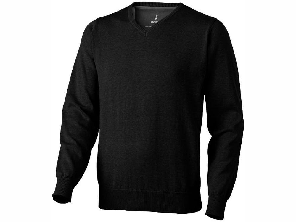 Пуловер Spruce мужской с V-образным вырезом, черный (артикул 3821799S)