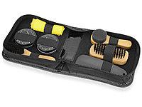 Набор для чистки обуви Шайн, черный, желтый, дерево (артикул 850310), фото 1