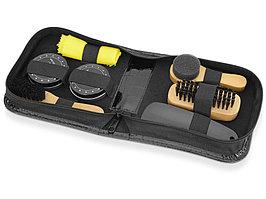 Набор для чистки обуви Шайн, черный, желтый, дерево (артикул 850310)