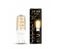 Лампа Gauss G9 AC185-265V 3W 280lm 2700K керамика диммируемая LED 1/10/200