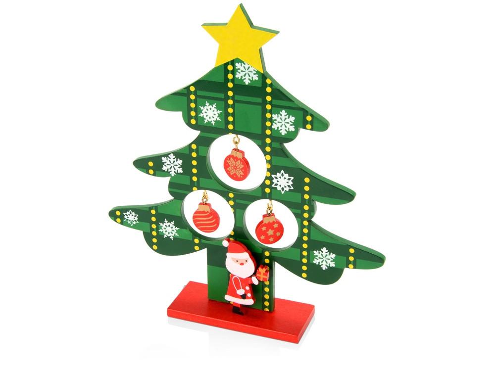 Декоративная елочка c игрушками и Дед-морозом (артикул 158904)